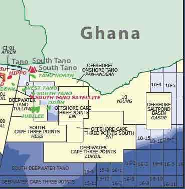 Image result for oil blocks in Ghana's Offshore